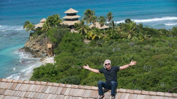 La mansión de Branson en la isla Necker