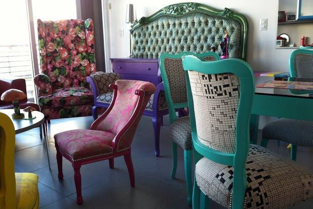 de autor muebles reciclados a puro color  Living  ESPACIO LIVIN