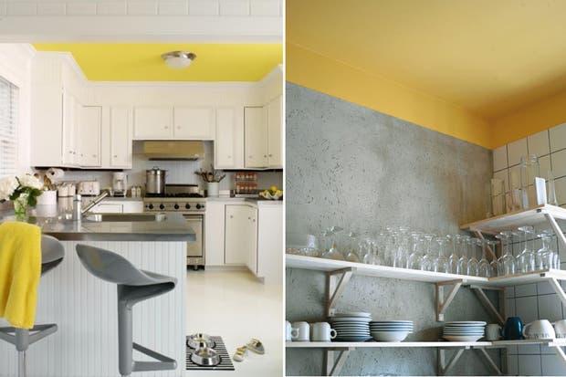 ¡ El techo coloreado también es una opción! | Fotos: houzz.com y www.thekitchn.com.