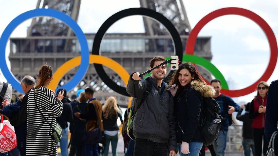París festeja la realización de los Juegos Olímpicos 2024 en Francia. Foto: AFP / Franck Fife
