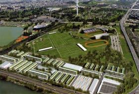 La Villa Olímpica, en el Parque Roca, según el render, tendrá edificios de cuatro y seis pisos, con departamentos