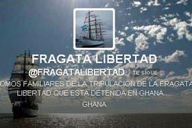 La cuenta fue creada por los familiares de los tripulantes del buque argentino
