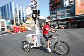 Uno de los vehículos utilizados para transportar las cámaras del GSV.