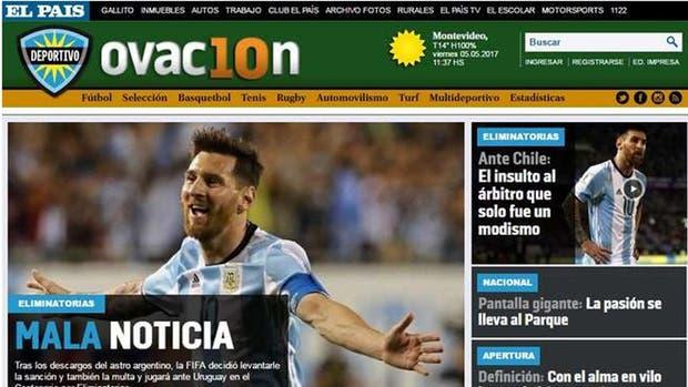 El portal del diario El País, de Montevideo