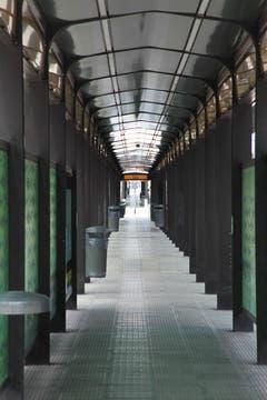 Los pasillos del Metrobús 9 de Julio. Foto: LA NACION / Matías Aimar