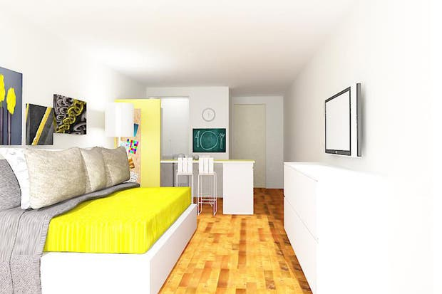 Solución 201: cómo decorar un depto de 20m2   living   espacio living