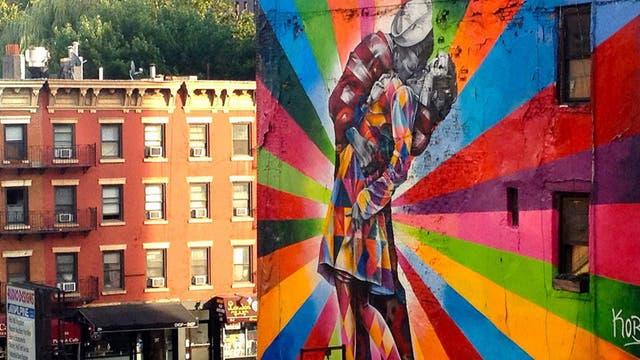Mural en Nueva York. Foto: Ignacio Lehmann / Fb: 100 World Kisses