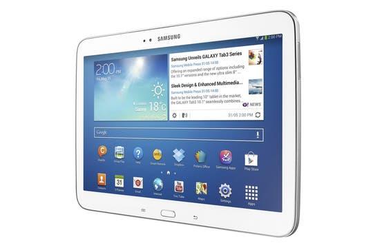 La tableta Galaxy Tab 3 de Samsung tiene una pantalla de 10,1 pulgadas y procesador Intel; la versión de 8 pulgadas tiene un chip ARM.