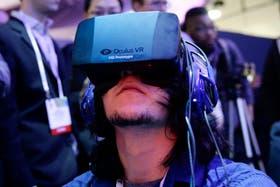 Un visor de realidad virtual Oculus Rift