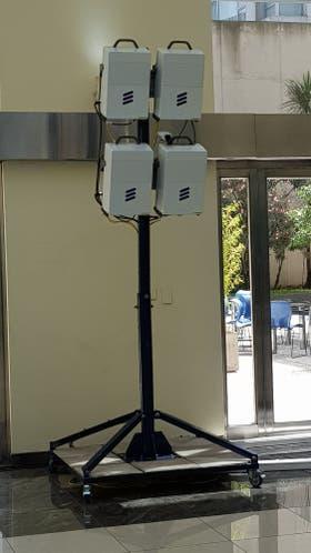 La antena transmisora con la que hicieron la prueba de 5G