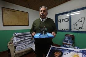Derrotado. Simón Jalil, ex intendente del MPN, hoy hace campaña con Cristina