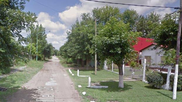 La calle 126, entre 5 y 7, de Punta Lara