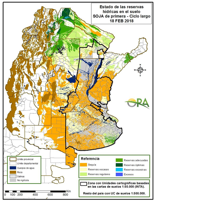 La situación actual de reservas de humedad en la región pampeana