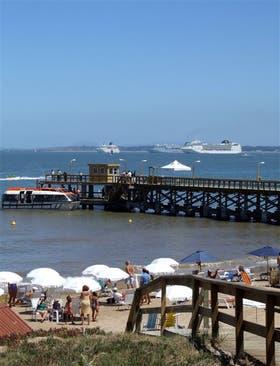 Esta semana empezarán a desfilar los grandes cruceros por Punta del Este, que cambian por completo el paisaje de La Mansaneas