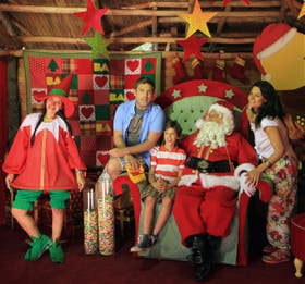 La cabaña de Papá Noel es la principal atracción