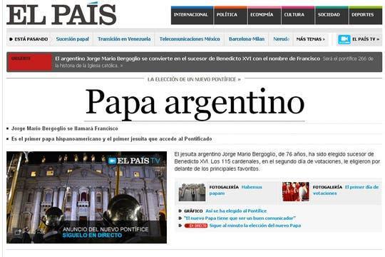 El País de España. Foto: Captura de Pantalla