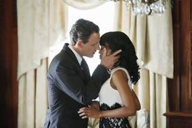 El tórrido romance entre el presidente Grant (Tony Goldwyn) y la operadora política Olivia Pope (Kerry Washington), eje de Scandal