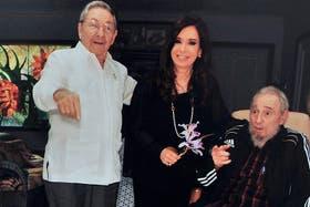 Cristina Kirchner y Fidel Castro, durante el encuentro que mantuvieron el año pasado