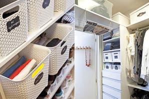 Cómo organizar el espacio en un vestidor o placard
