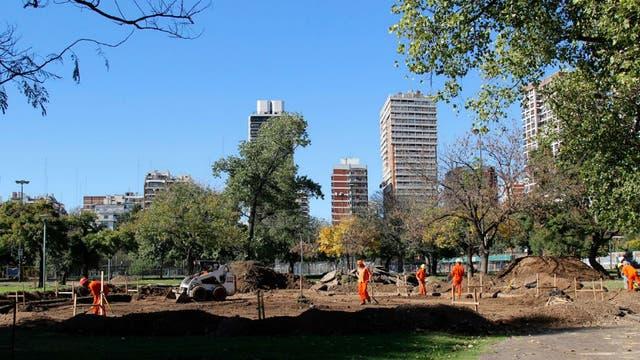 Comenzaron las obras en el Parque Las Heras
