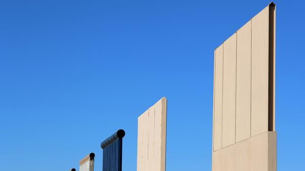 Trump, más cerca de construir el muro: de estos 8 prototipos saldrá el verdadero