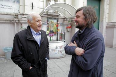 Lavagna visitó al Padre Pepe y a los curas villeros
