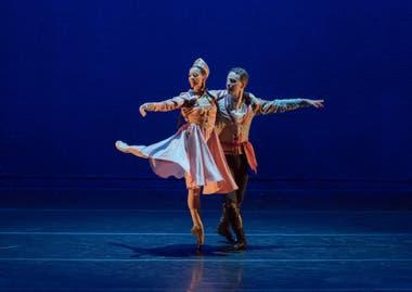 Carolina Basualdo y Manuel Martínez, la pareja que en representación del Ballet del Sur de Bahía Blanca participó de la función con Gayané, de Ricardo Alfonso