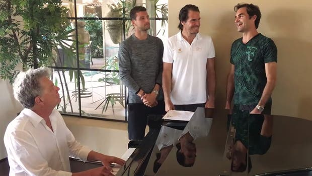 Federer, junto a Hass y Dimitrov