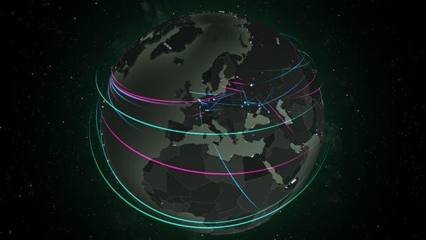 Mapa de ciberataques alrededor del mundo