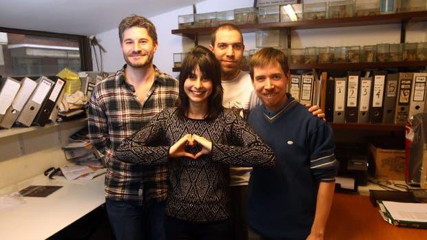 Agustín Ibáñez, Indirna García-Cordero, Adolfo García y Lucas Sedeño