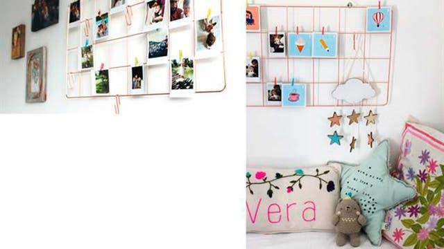 Malla metálica de papelera contemporánea en Mercado Libre Design $390 / Almohadón con nombre Bordado a mano de Almohadones bordados By Mili Suarez / Osito de crochet de Tres pajaritos / Almohadón estrella de Pasito a paso