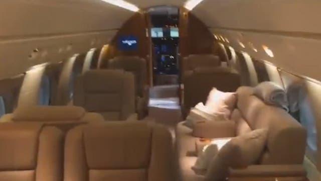 Así es el avión por dentro que alquilaba Marcelo Balcedo