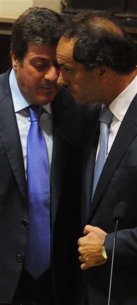 Mariotto y Scioli, el viernes pasado