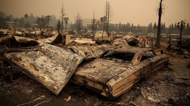 Las personas abandonaron sus casa como pudieron y el fuego lo destruyó todo