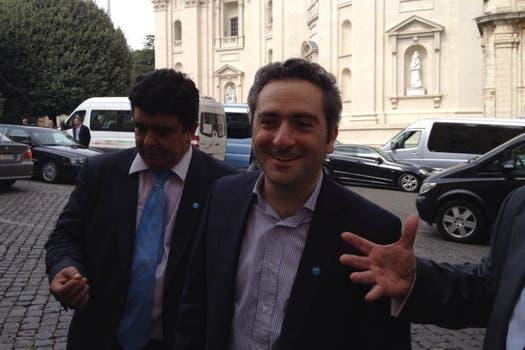 Larroque, exultante tras la visita al Vaticano. Foto: LA NACION / Elisabetta Piqué