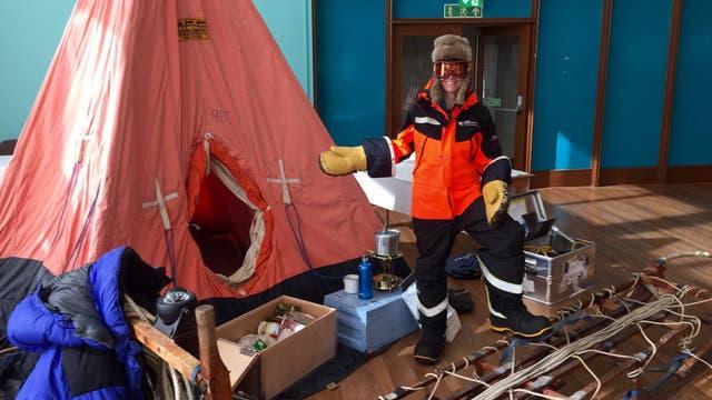 Uno de los integrantes del Proyecto Midas que estudian en forma permanente los hielos antárticos