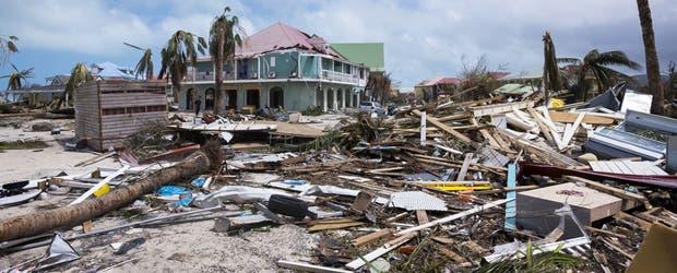 En el sector francés de la isla Saint-Martin el huracán provocó graves destrozos