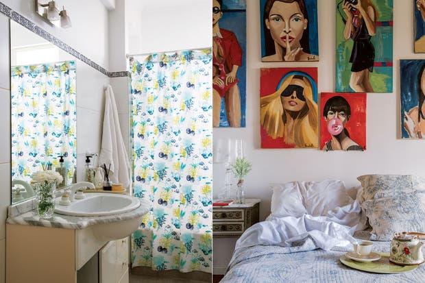 El baño se conservó tal como lo recibieron.  Foto:Living /Daniel Karp