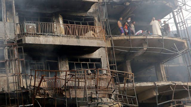 La explosión el domingo. Foto: EFE