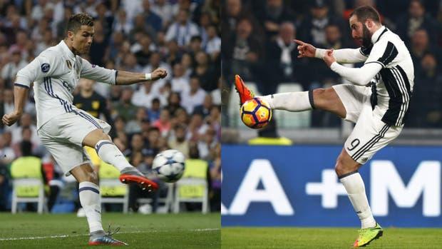 Cristiano Ronaldo y Gonzalo Higuaín, los artilleros de los finalistas