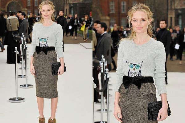 Un look perfecto para el día, Kate Bosworth con una pollera de tweed corte peplum, by Burberry Prorsum. Foto: Foto: www.rte.ie