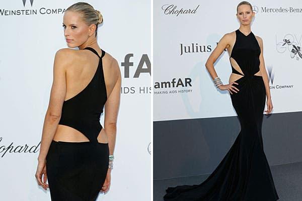 ¿Qué tal el vestido de Karolina Kurkova, con espalda con corte irregular?. Foto: Celebritieswonder.net