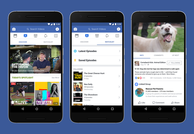 Facebook se mete de lleno en el mundo del streaming con Watch