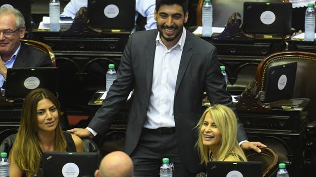 El diputado Facundo Moyano durante el debate en la cámara baja del presupuesto, la responsabilidad fiscal, el consenso fiscal, compromisos tributarios y una ley relacionada al deporte
