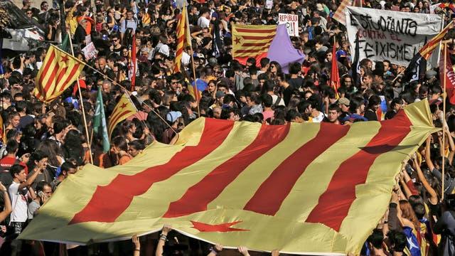 Marchas a favor de la independencia de Cataluña