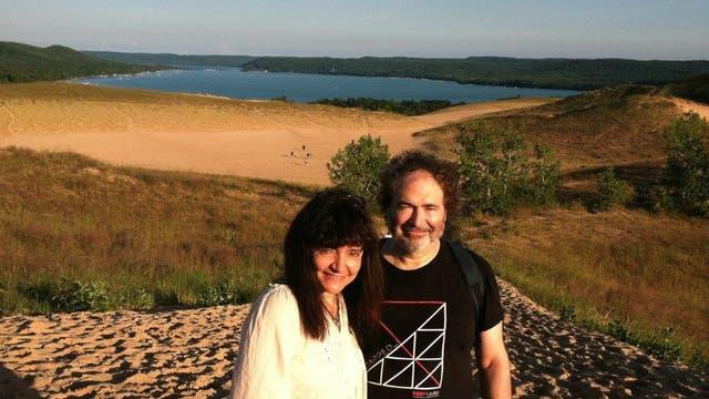 Los científicos en el parque Sleeping Bear Dunes, en el norte de Michigan