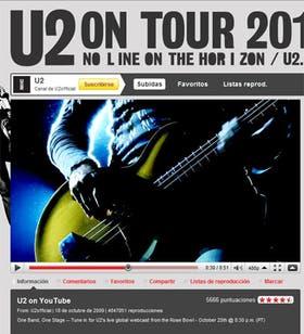 YouTube ya experimentó las transmisiones en vivo desde su plataforma, con su propio concierto y la emisión en directo de un recital de U2