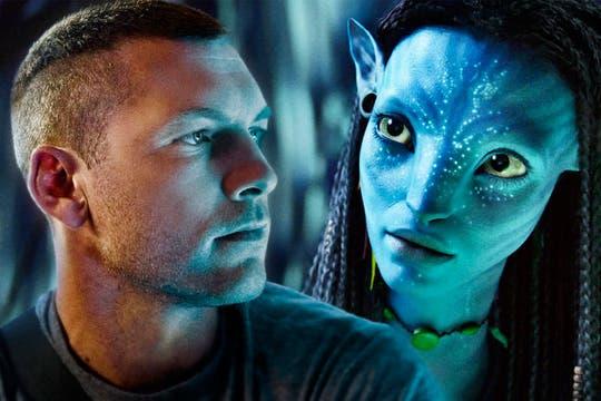 El protagonista de Avatar, Jake Scully (interpretado por Sam Worthington) y Neytiri, habitante de Pandora.