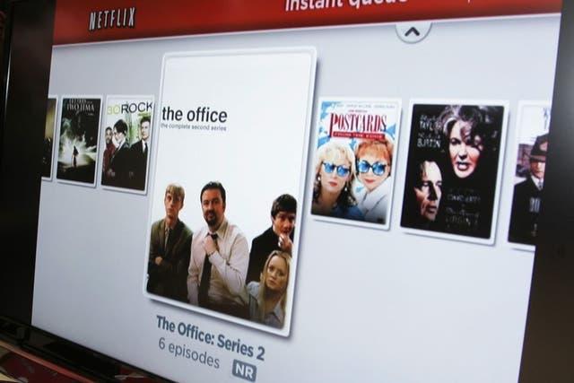 Imagen de archivo de la interfaz de Netflix