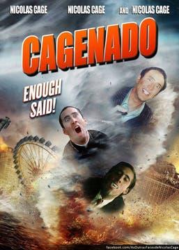 Nicolas Cage, otro asiduo blanco de los memes, se suma al absurdo de Sharkado con un tornado hecho a medida. Foto: Gentileza knowyourmeme.com